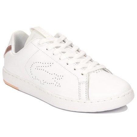 najlepszy design Nowa kolekcja Pierwsze spojrzenie Lacoste Carnaby Evo Light-WT 1193 SFA WHT-LT PNK White Sneakers