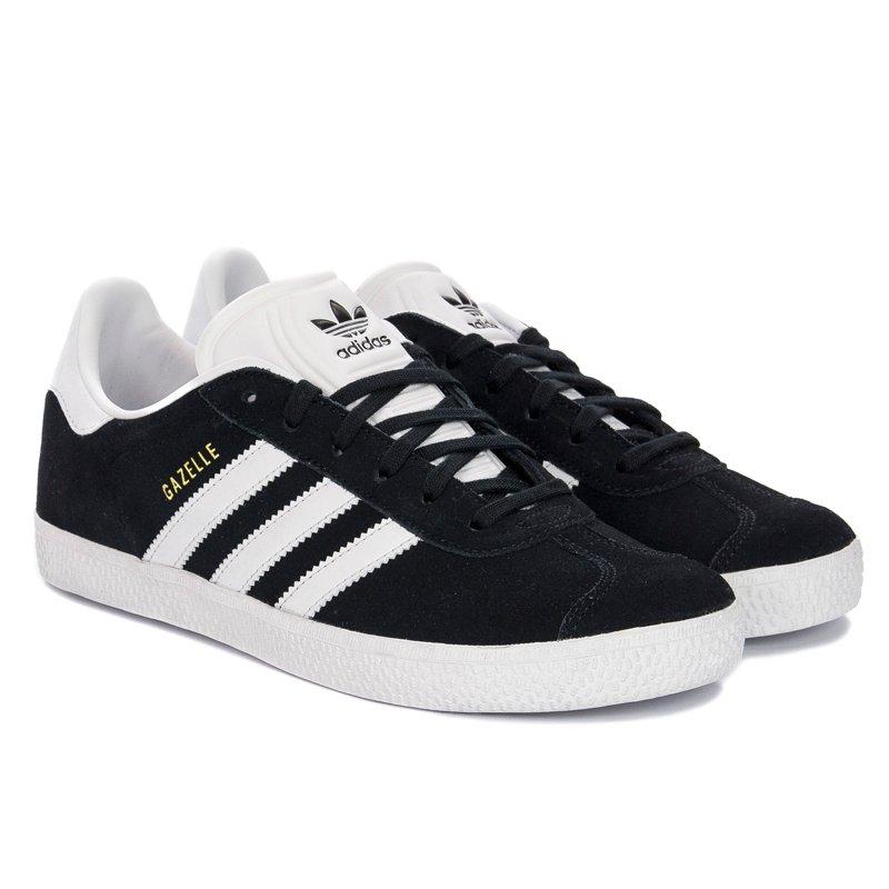 taille 40 7222a 923b4 Adidas Gazelle J BB2502 Black White Sneakers