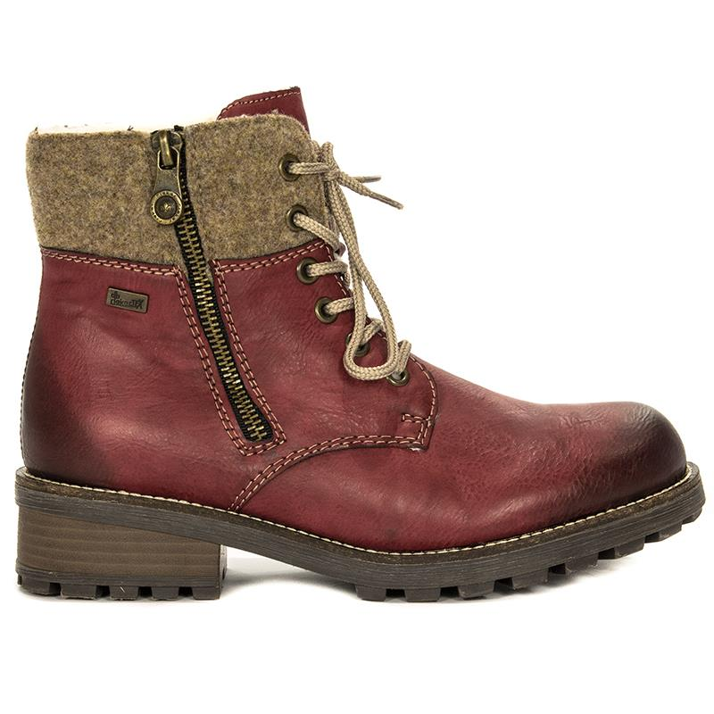 d185a6bab80 Rieker Z0441-35 Red Boots - Rieker - Obuwie damskie Botki/Trzewiki ...