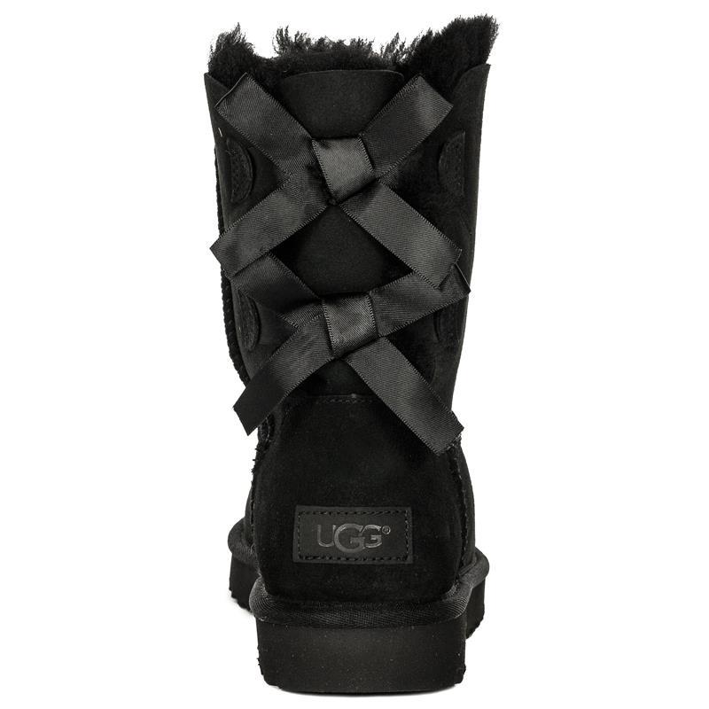 bb8571d7882 UGG 1016225 BAILEY BOW II BLACK Boots
