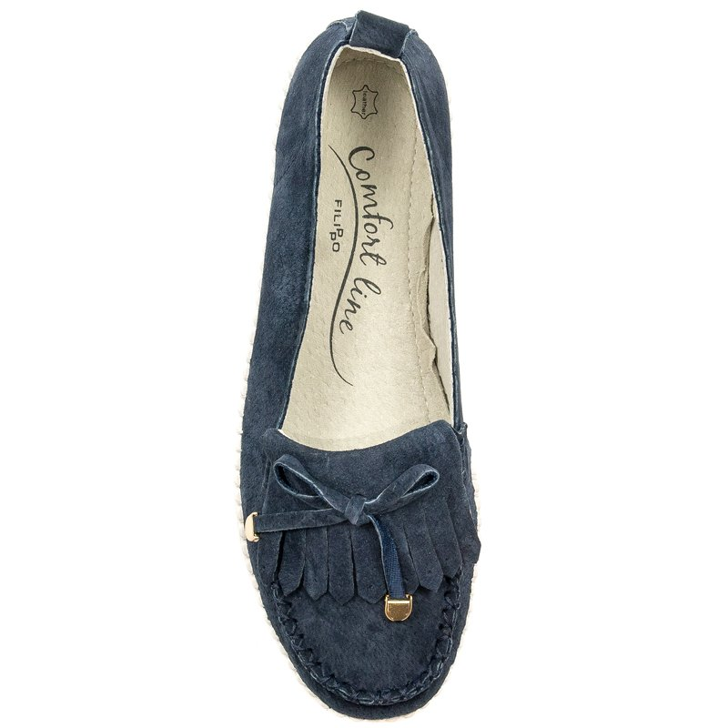 928f0110a Filippo DP021-19NV Navy Flat Shoes - Filippo - Obuwie damskie ...
