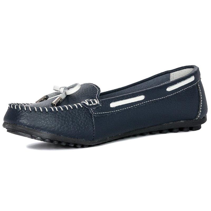 a0dd447e5 Filippo DP141-19NV Navy Blue Flat Shoes - Filippo - Obuwie damskie ...