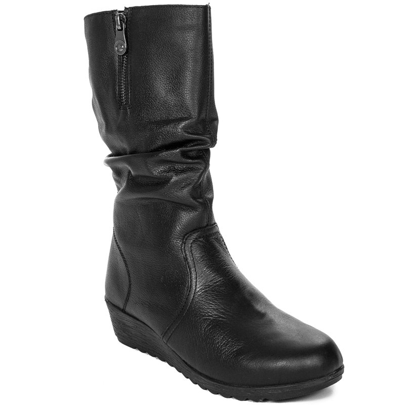 official uk store discount collection Rieker X2471-00 Black Knee-High Boots