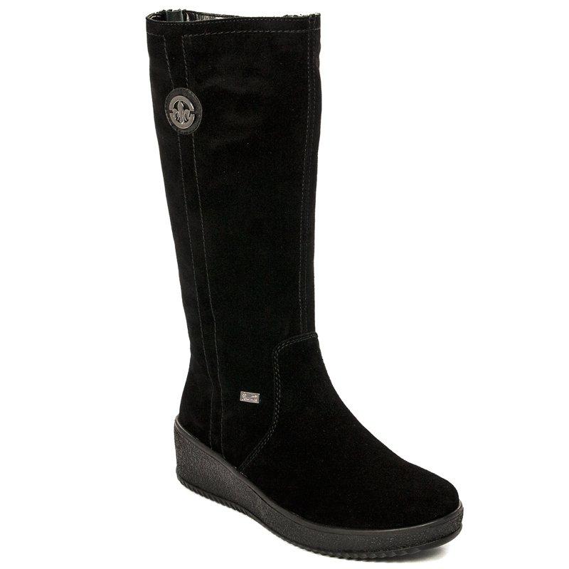 b85e3500c78a3 Rieker Y4470-00 Black Knee-high Boots - Rieker - Obuwie damskie ...