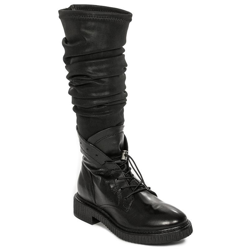 1e81c3ac Venezia 132308 NERO Black Knee-High Boots - Venezia - Obuwie damskie ...