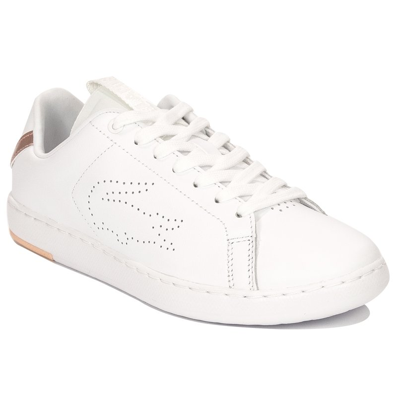 1d8aa21c2 ... Lacoste Carnaby Evo Light-WT 1193 SFA WHT-LT PNK White Sneakers ...