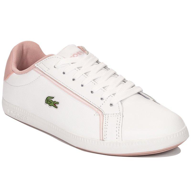 6cd4daee0 Lacoste Graduate 119 1 SFA WHT-LT PNK White Sneakers - Lacoste ...