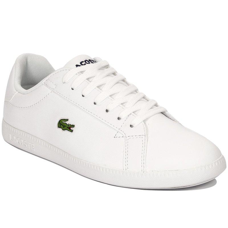 c3733d4a7 Lacoste Graduate BL 1 WHT White Sneakers - Lacoste - Obuwie damskie ...
