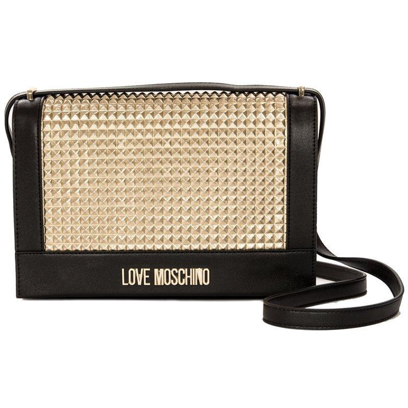 80f8ff1a37297 Love Moschino JC4225PP07KD100B Black Gold Handbag - Love Moschino ...