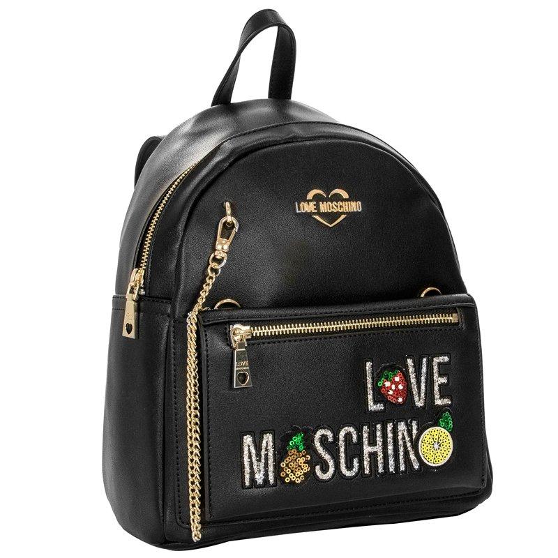 937e8b6c8 Love Moschino JC4276PP07KL0000 Black Backpack · Love Moschino  JC4276PP07KL0000 Black Backpack ...