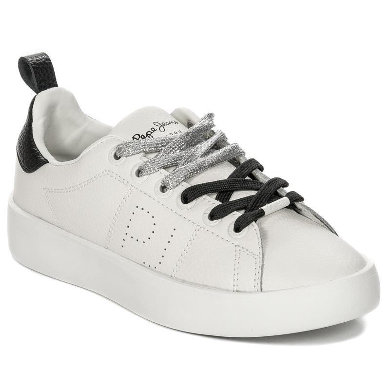 Damskie Obuwie Pepe 800 White Pls30778 Sneakers Jeans SUpLGzVqM