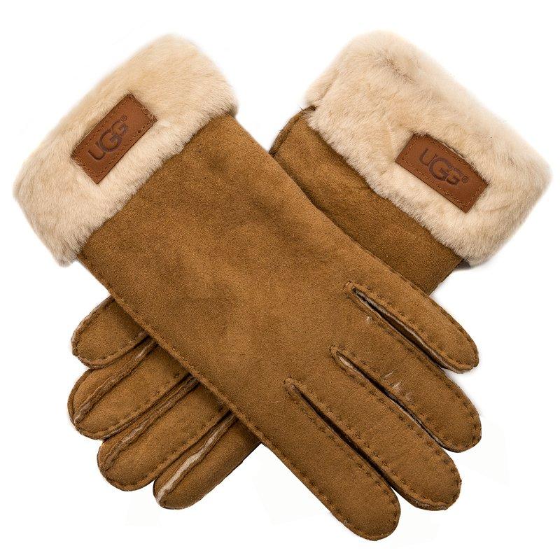 0438a7f9d79 UGG 17369 Turn Cuff Glove Chestnut Brown Gloves