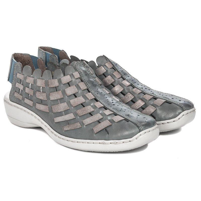 164626a0530c Rieker 413V8-12 Azur Grey Sandals - Rieker - Obuwie damskie Sandały ...