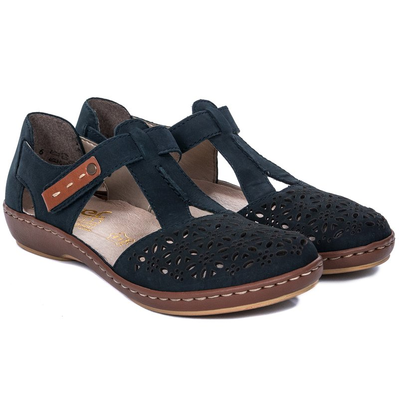 Rieker 45880 14 Navy Closed Toe Sandals