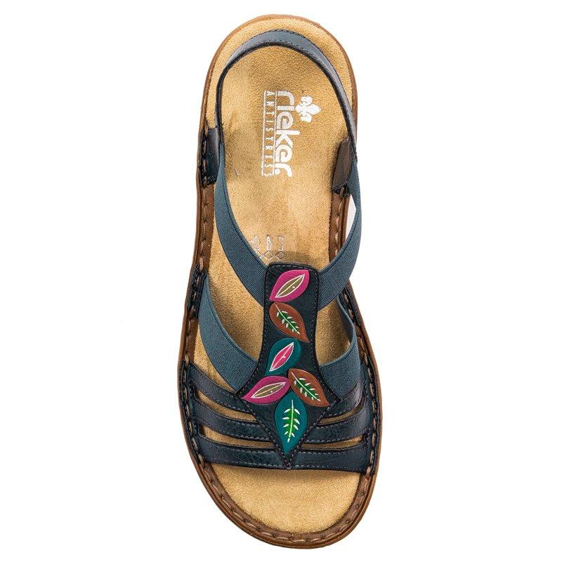 info for d2f3a d4179 Rieker 60171-14 Blue Sandals