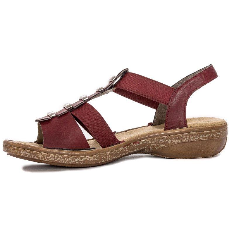 Sandały Rieker 62850 35 Bordowy