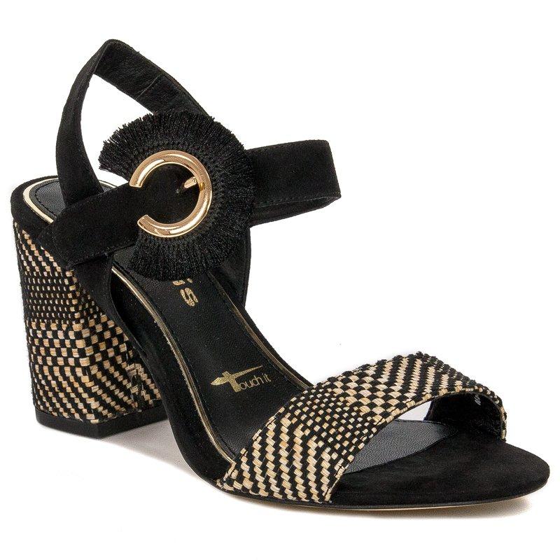 Tamaris 1 1 28326 24 098 Black Comb Sandals