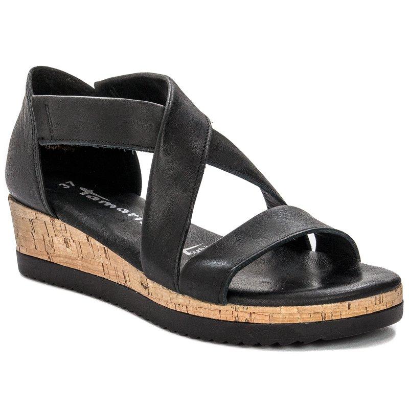 Tamaris 1 28224 24 001 Black Sandals
