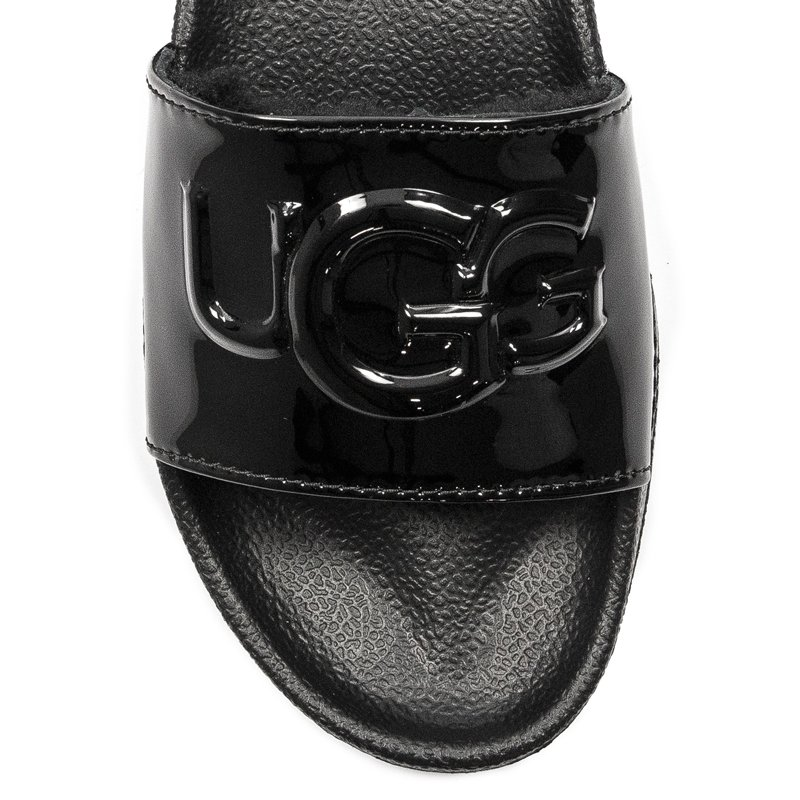 de9c6782f57 UGG 1101189 Royale Graphic Metallic Black Slides