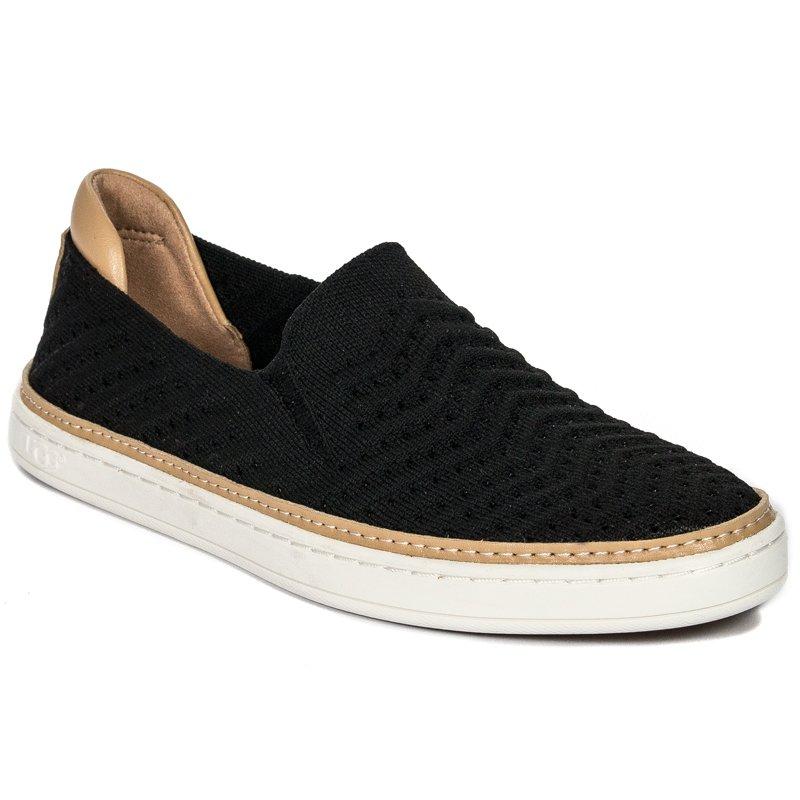 067324def45 UGG 1102560 Sammy Chevron Black Flat Shoes