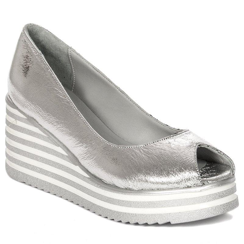 7b5e9bd037 Venezia 19066 Silver Flat Shoes - Venezia - Obuwie damskie Półbuty ...