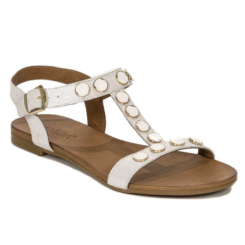 94a06783 Venezia 19560 MEL WHI White Sandals - Venezia - Obuwie damskie ...