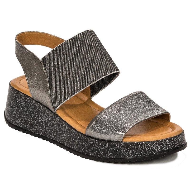 b6b78cb2e0cd Venezia 277202T STEEL Silver Gray Sandals - Venezia - Obuwie damskie ...
