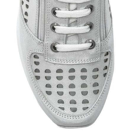 Boccato 0164 106 1288 716 White SatinFlat Shoes