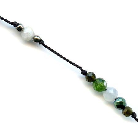 DOTS Jewelry Necklace Green Pearl Cross 1
