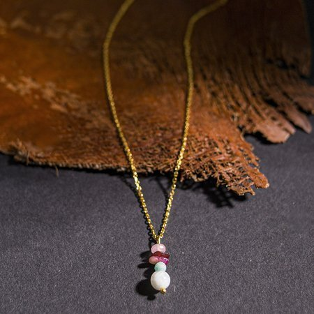 DOTS Jewelry Necklace Ruby Gold