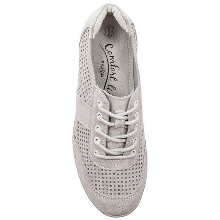 Filippo DP028-20 Silver Flat Shoes
