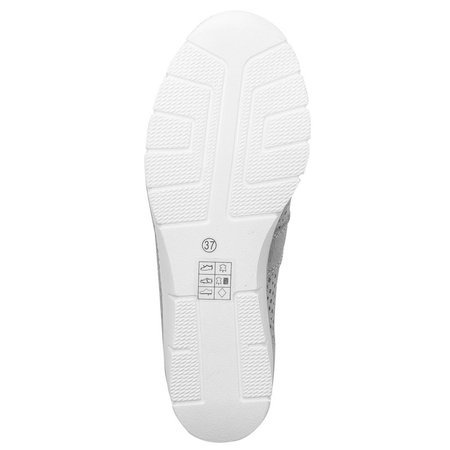 Filippo DP028-20 White Flat Shoes