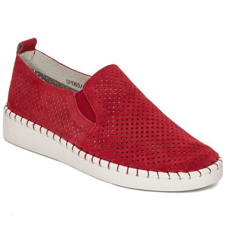 Filippo DP063-19RD Red Flat Shoes