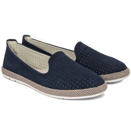 Filippo DP081-20 Navy Flat Shoes