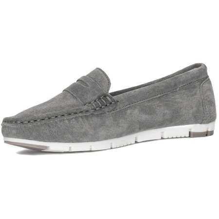 Filippo DP639-19GR Gray Flat Shoes