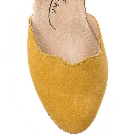 Filippo DS1394-20 Yellow Pumps