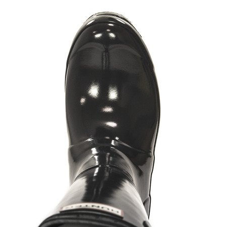 Hunter Womens Org Tall Gloss WFT1000 RGL Dark Slate Wellingtons