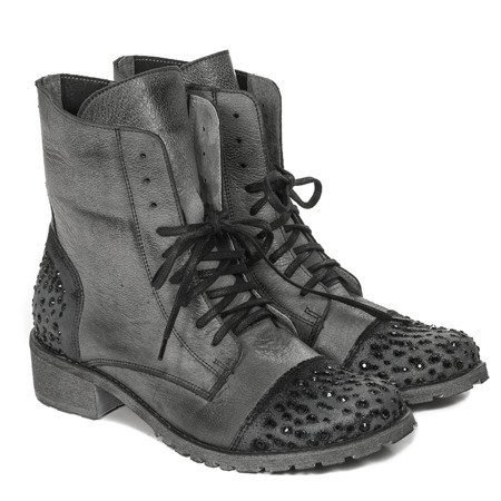 Inofio 965 - fredo Grey Lace-up Boots