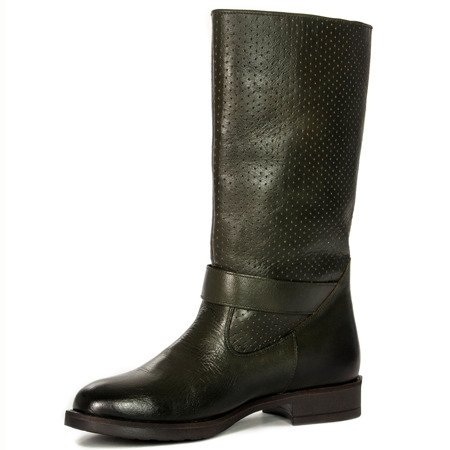 Maciejka 00781-09-00-6 Green Knee-High Boots