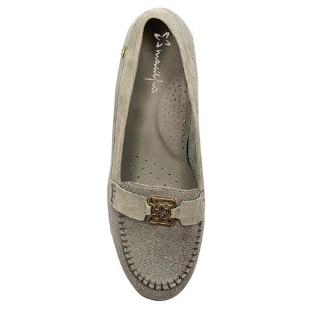 Maciejka 02989-03-00-5 Gray Flat Shoes