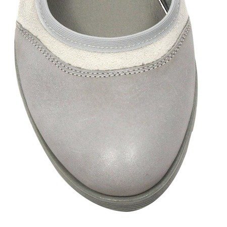 Maciejka 03536-03-00-5 Gray Flat Shoes