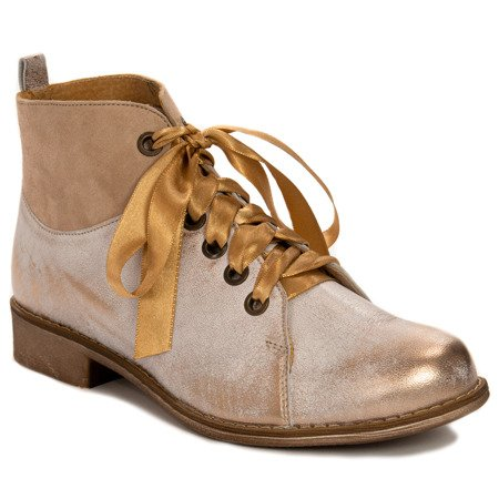 Maciejka 03545-04-00-5 Beige Lace-up Boots