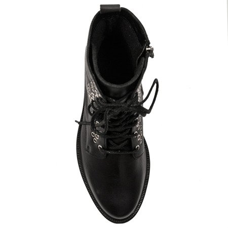 Maciejka 03841-01-00-3 Black Lace-up Boots