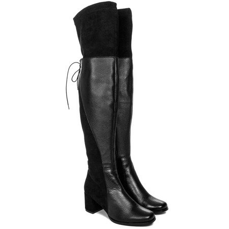Maciejka 03878-01-00-7 Black Knee-high Boots
