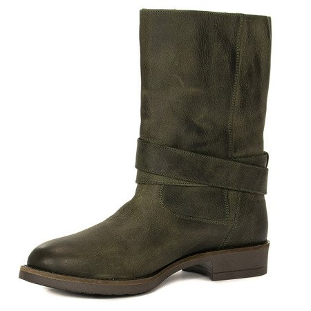 Maciejka 03953-09-00-6 Green Knee-high Boots