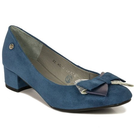 Maciejka 04034-17-00-1 Navy Blue Pumps