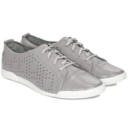 Maciejka 04049-03-00-5 Gray Flat Shoes