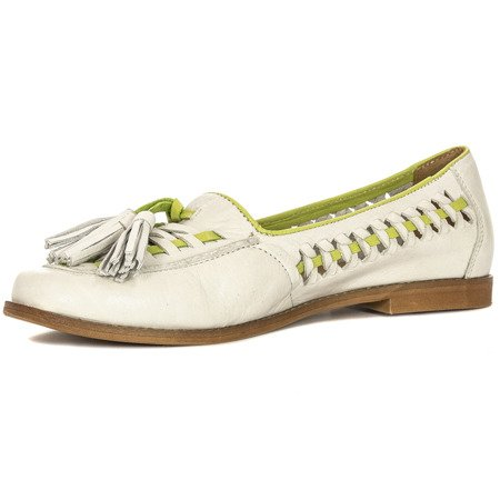 Maciejka 04052-11-00-5 White Flat Shoes
