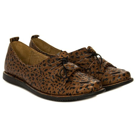 Maciejka 04095-29-00-5 Red Panther Flat Shoes