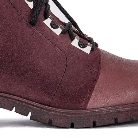 Maciejka 04183-23-00-3 Burgundy Lace-up Boots